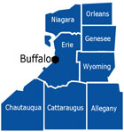 Buffalo & Western New York Map